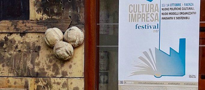 Manifesto all'ingresso del MIC per Cultura Impresa Festival a Faenza